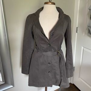 Free People trench coat military jacket 6